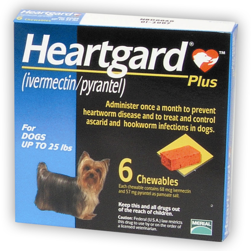Heartgard Plus Heartworm Prevention for Dogs, Small 1-25lbs (BLUE)
