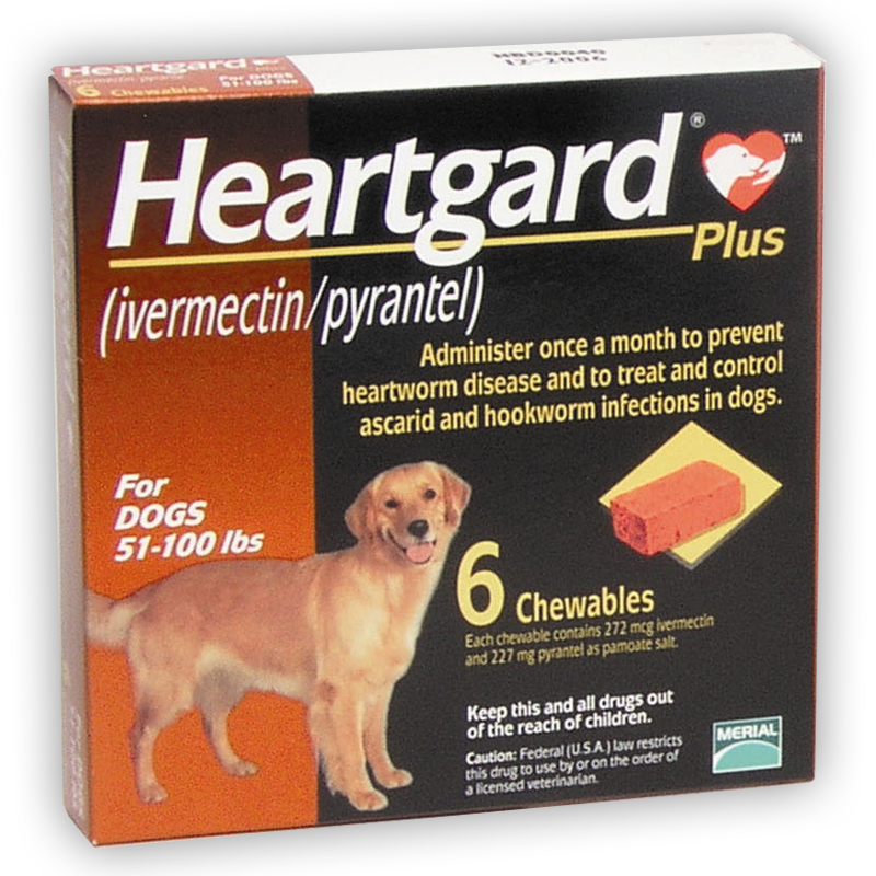 Heartgard Plus Heartworm Prevention for Dogs, Large 51-100 lbs (BROWN)
